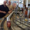 DSCN0096: TA train set inaugural run at Arkansas Traveler Train Store layout