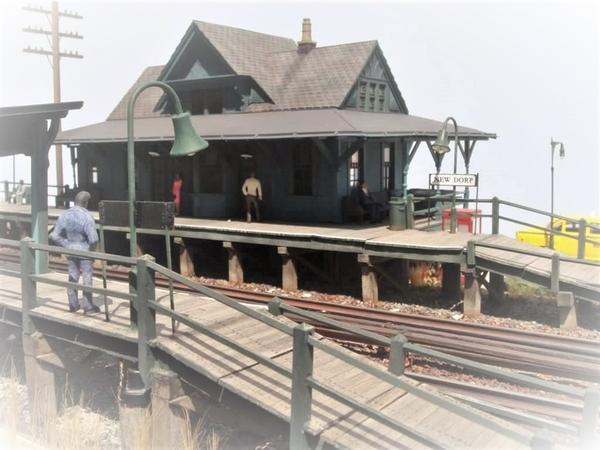 NEW DORP STATION 1963 Staten Island ED BOMMER Build [1)