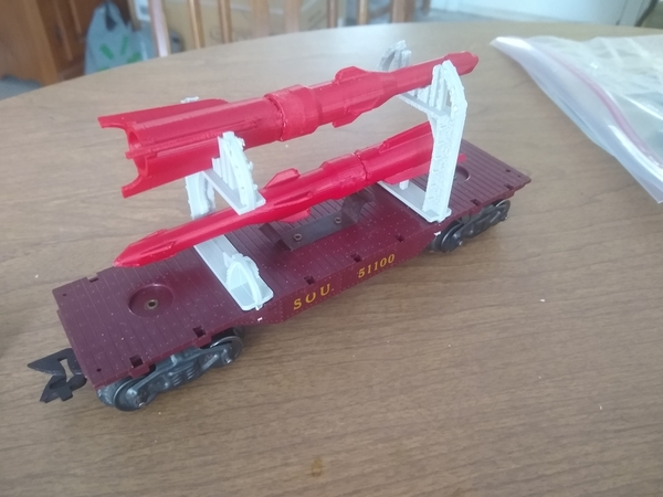 The Marx Cape Canaveral Rocket Carrier Car comes together!