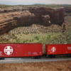 """mceclip0: 1/4"""" scale boxcar next to 3/16"""" scale boxcar"""