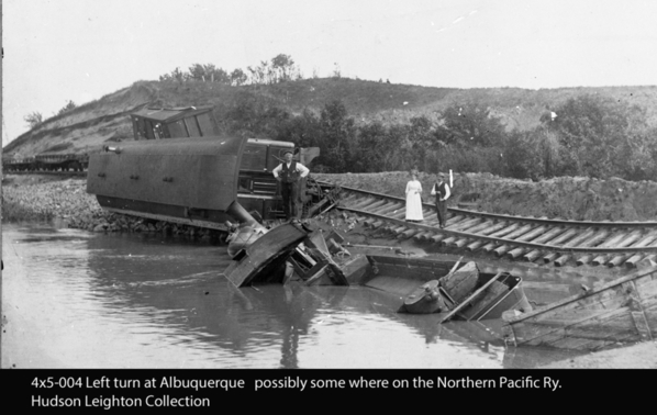 Real NP engine derailed water