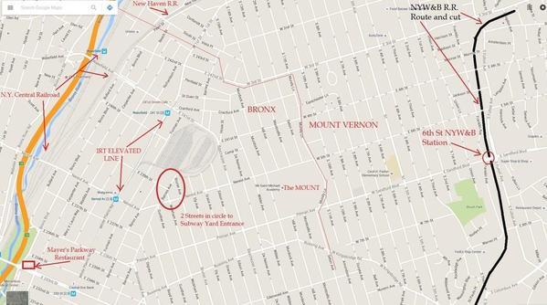 Map of Mt. St Michael School and RR & EL Lines