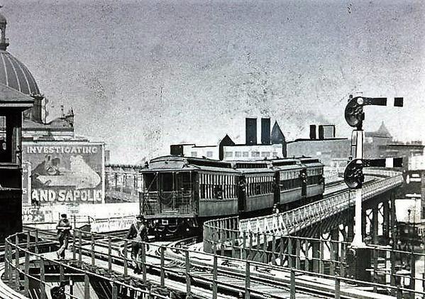 Brdwy El to Delancy St 1908