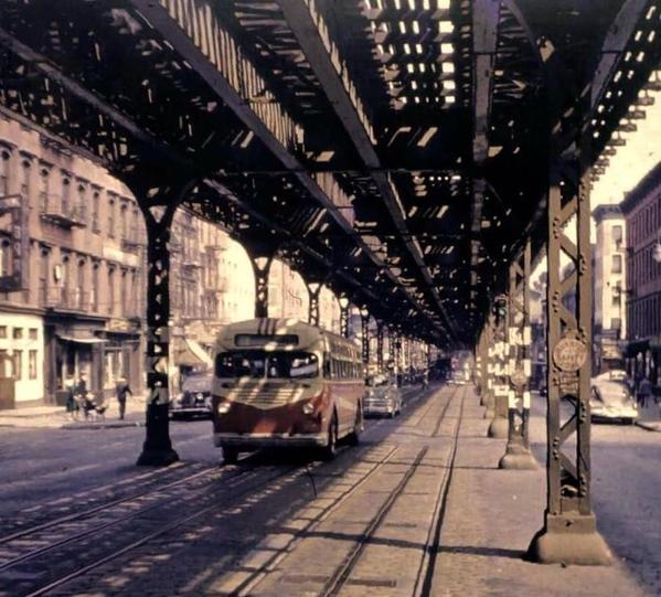 N under 3 AV EL in upper mid Manhattan-1950