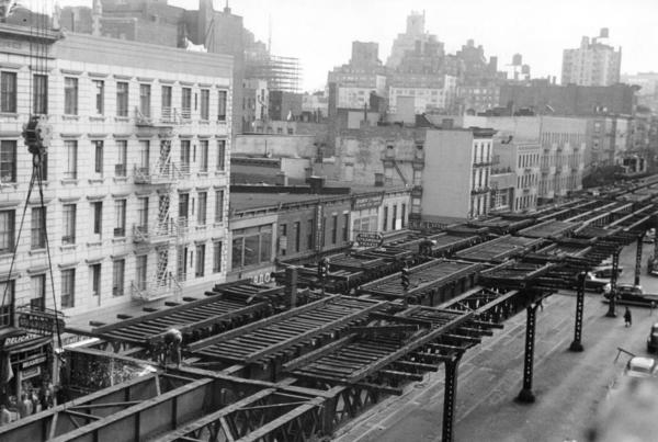 SE at E. 78 St to 3AV EL Demol to E.76St STA--10-1955