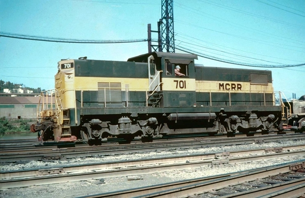 Monongahela Connecting ALCO C415 701 In 1969 At Pittsburgh PA
