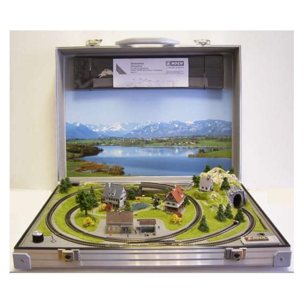 Coffee Table Train Set Sale: Amazing Suitcase N-Scale Train