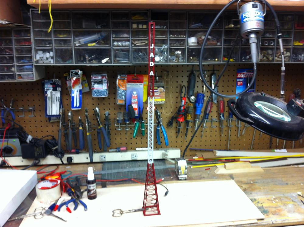 26 Gauge Wire >> KORBER SCALE RADIO STATION TOWER A REAL WINNER | O Gauge ...