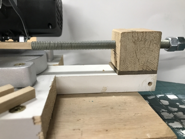 Chop Saw Depth Stop in Use 1