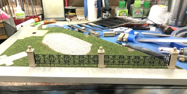 Heritage Park Fence Progress