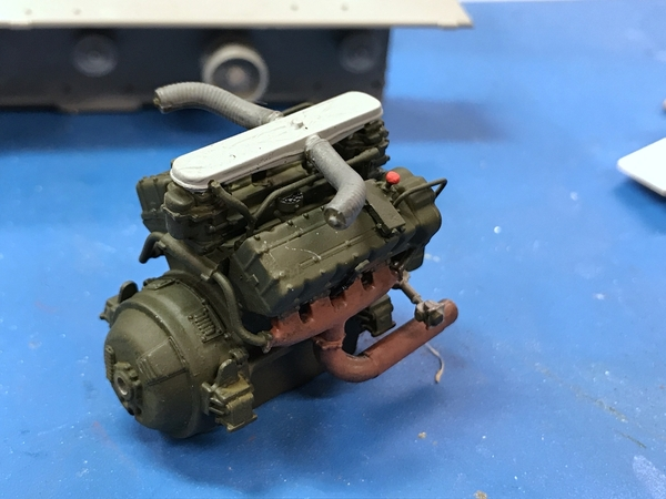 M4A3 Engine Painted 2