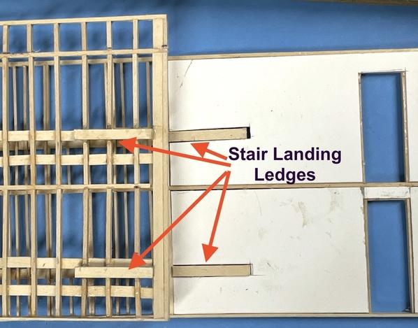RH Stair Landing Ledges