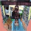 Deck Bridge Ravine Scenic Concept
