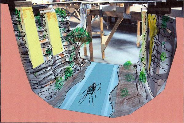 Truss Bridge Ravine Scenic Concept