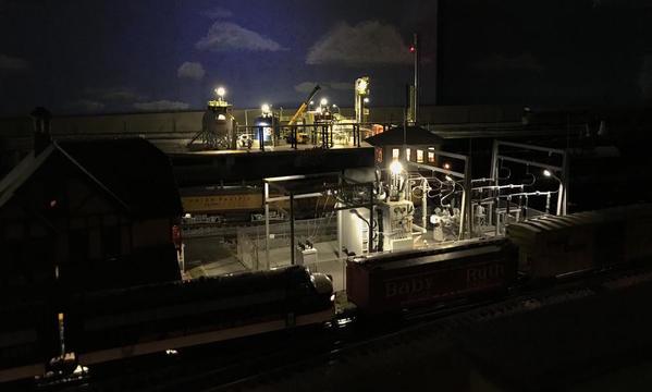 Refinery Night Across Trains 3