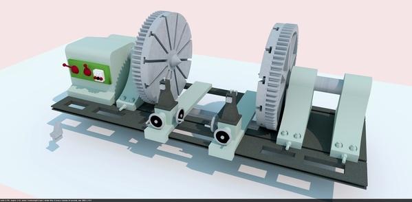 Wheel Lathe Render