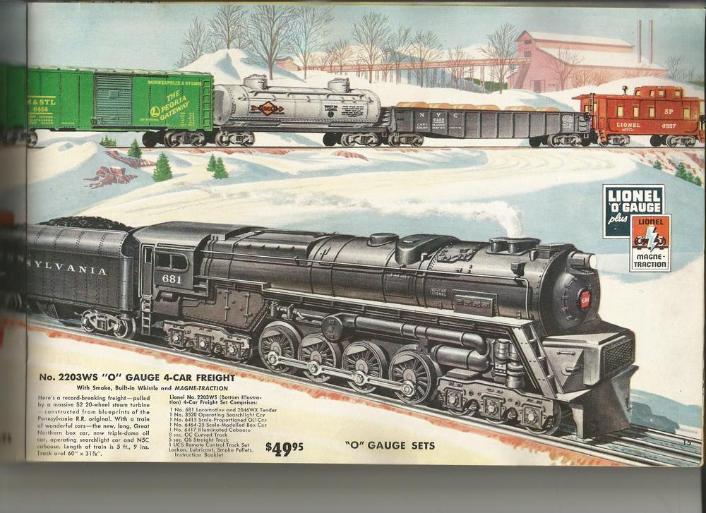 1953 Lionel Catalog 685Set 685Set2