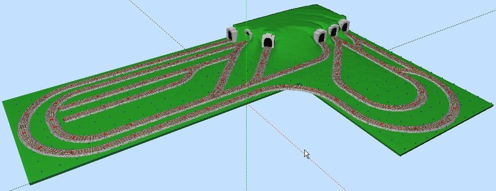 shaped layout   ...O27 Scale