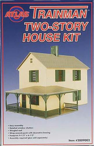 Modifying the atlas trainman 2 story house kit o gauge for 2 story home kits