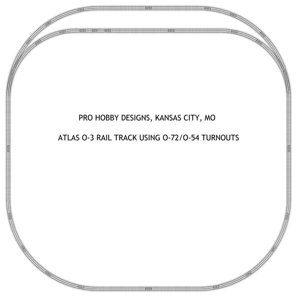 Track Plan Using Atlas O 72 54 Curved Turnouts Gauge Layout Wiring Diagram Files