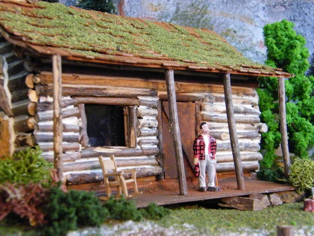 O scale log cabin o gauge railroading on line forum for Log cabin financing