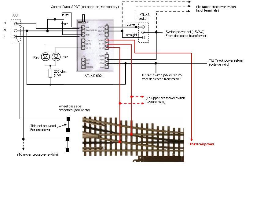 atlas #6924 non derail circuit board | o gauge railroading ... atlas train switch wiring diagram #15