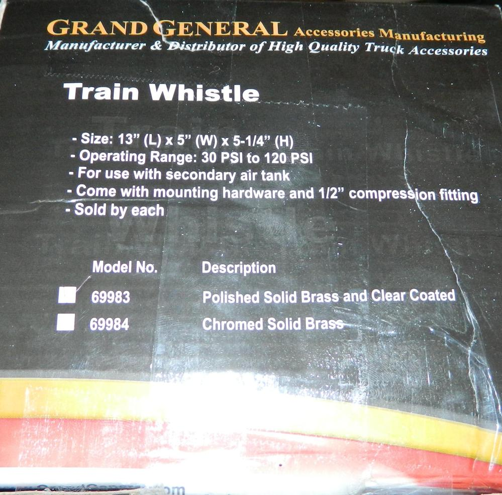 Brass Train Whistle I Have, Question About It   O Gauge