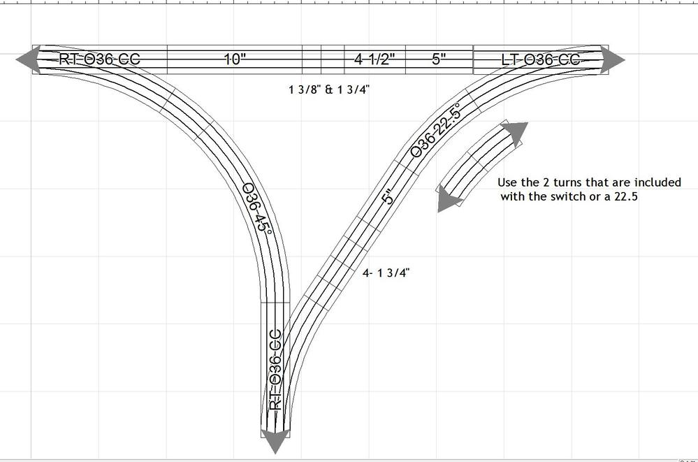 wye with three 36 inch fastrack switches? o gauge railroading on Tortoise Switch Machine Wiring Diagram dcc track wiring wye