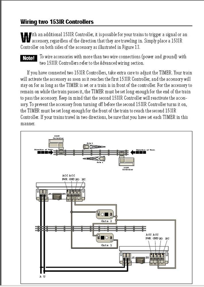 help needed wiring crossing gates
