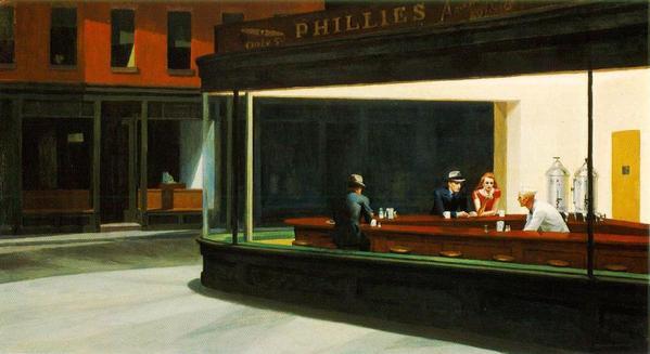 Edward Hopper's Nighthawks original