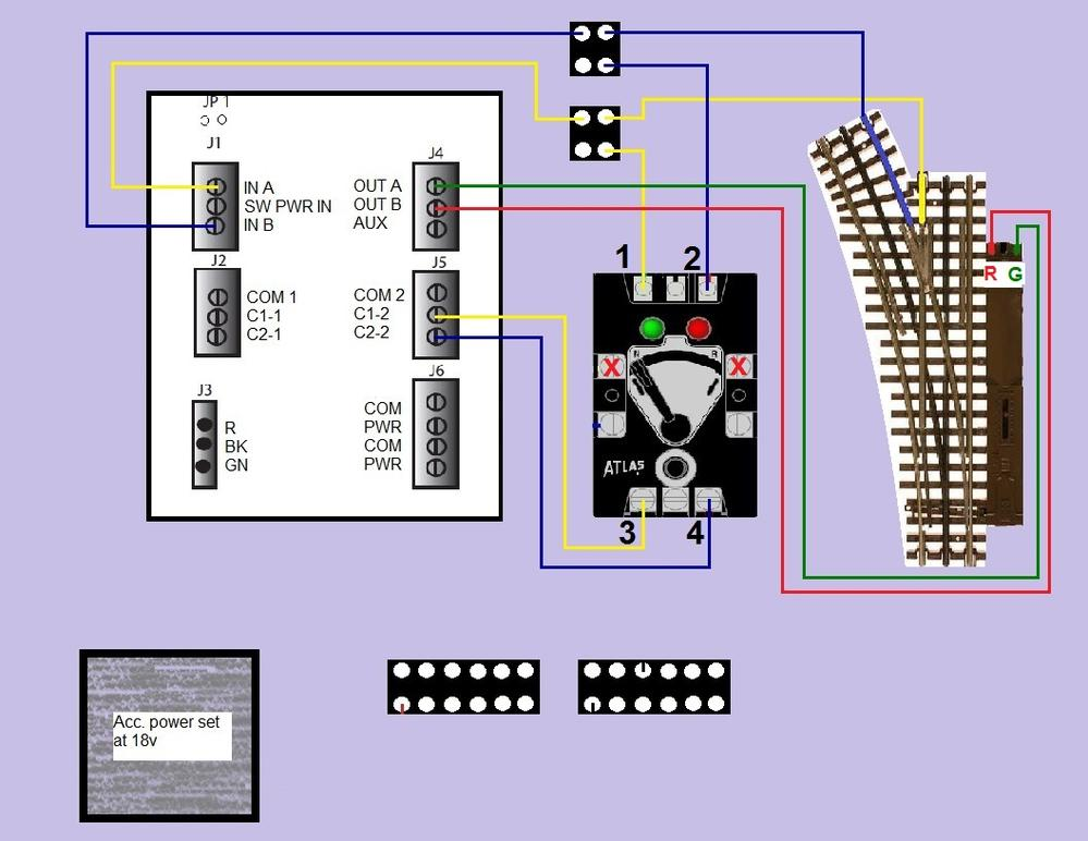 wiring an atlas 6924 n d board w 57 switch control o gauge detectionandcontrol