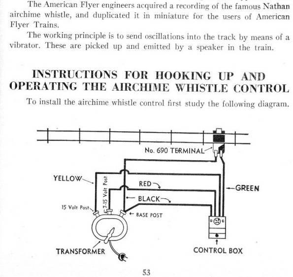 1950 U0026 39 S  U0026quot American Flyer Air Chime Whistle U0026quot