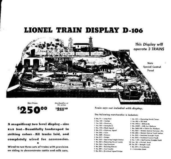 lionel postwar display d