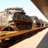 dodx42325atem3bradley: M3 Bradleys on 89 ft flat cars