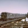 Myrtle El- inbound train to Fresh Pond STA-1962