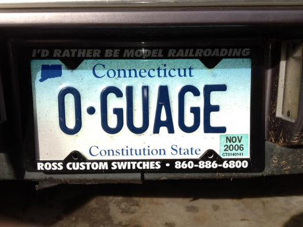 Vanity Tags On Your Auto O Gauge Railroading On Line Forum