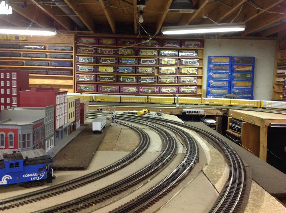 Update somebody downstairs likes railroads basement train layout in progress o gauge - Basement design layouts ...