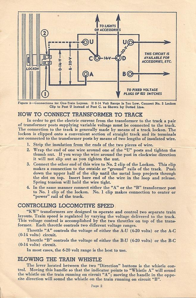 NEED A COPY OF A LIONEL KW TRANSFORMER MANUAL – Lionel Zw Wiring-diagram