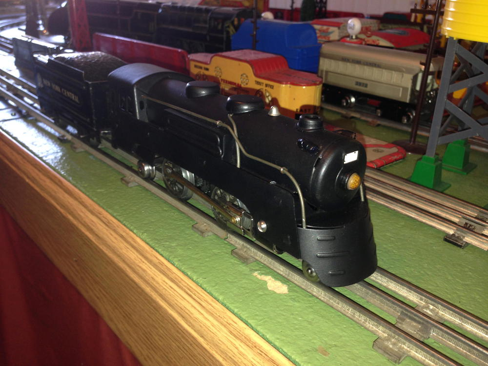 Marx 397 Canadian Pacific Style Loco, All Black   O Gauge