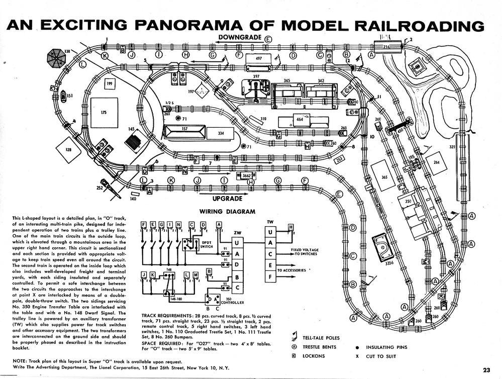lionel 1957 catalog layout