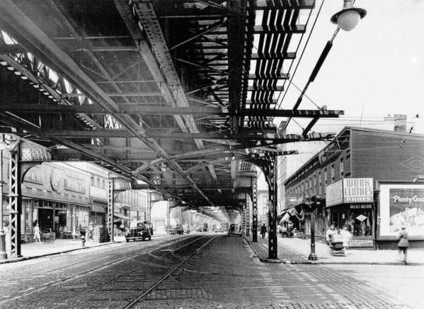 0177-Myrtle EL W under downtown Tk-Vanderbilt AV STA-1944