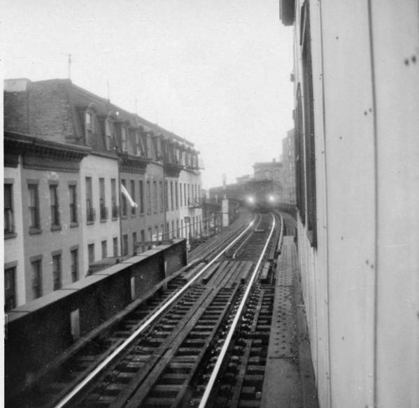 Neg#3544-View uptown by downtown track-Myrtle EL-9-1969