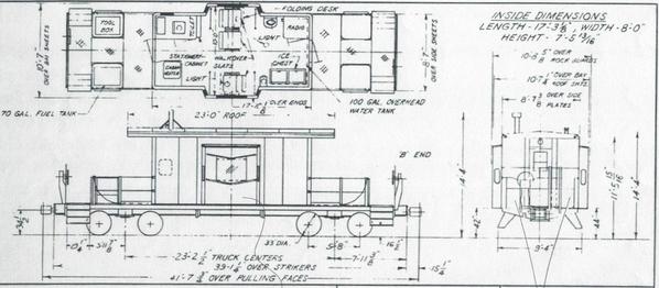 Mopac Short Bay Caboose Diagram