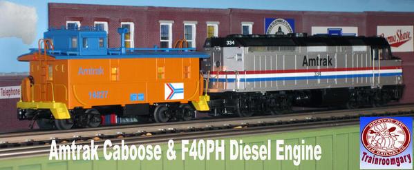 Amtrak & F40PH Diesel Electric Engine