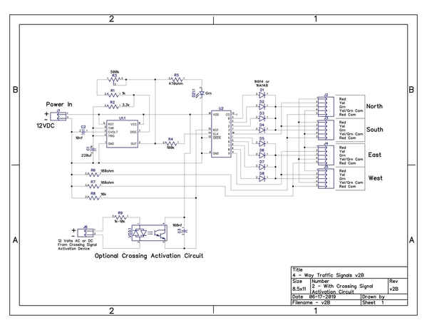 4-Way Traffic Signals Opto-Iso Schematic v2B-images