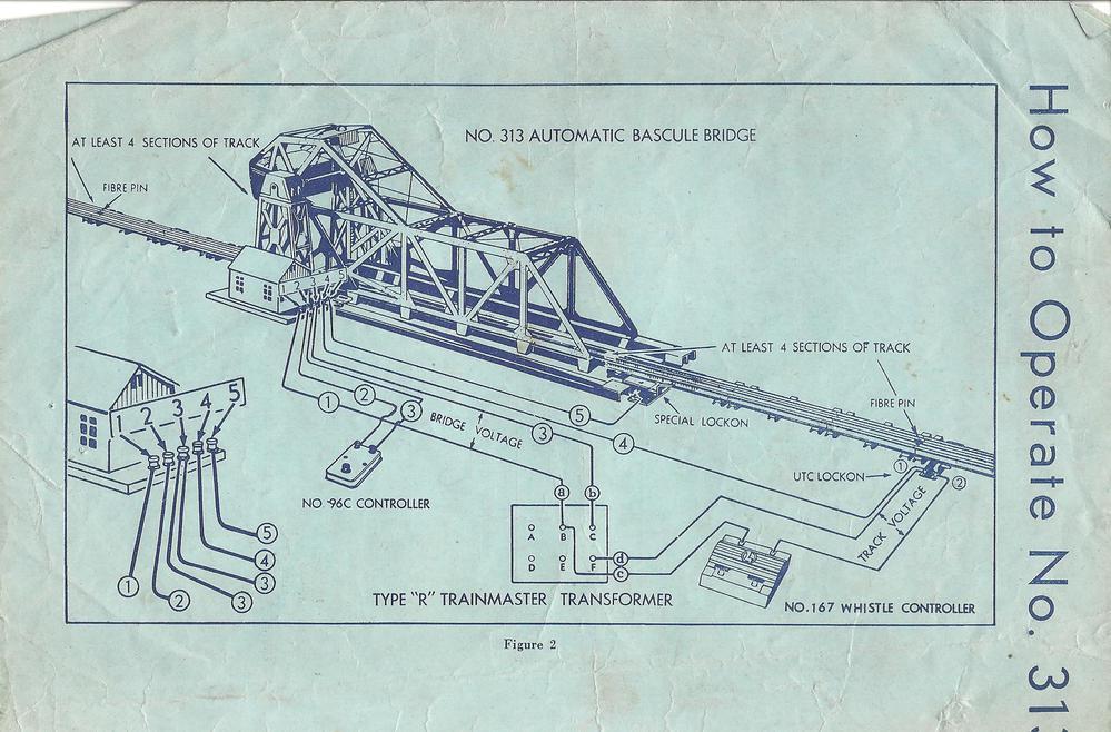 313 Bascule bridge – Lionel Wiring Diagram 200
