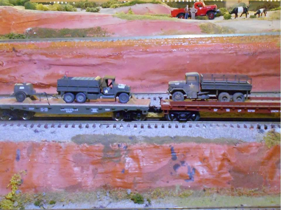 Menard's Flatcar with Army Truck and Fuel Trailer   O Gauge Railroading On Line Forum