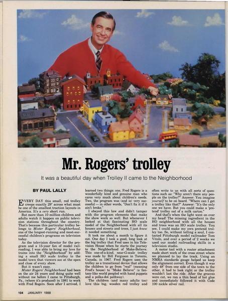 Mister Rogers Trolley? | O Gauge Railroading On Line Forum