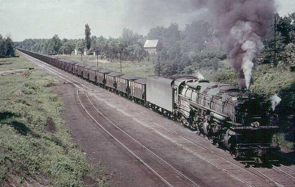 C&O Allegheny with coal drag