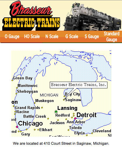 Brasseur Electric Trains Map
